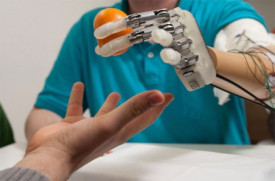 bionic-hand-touch